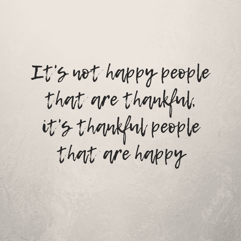 thankful people that are happy